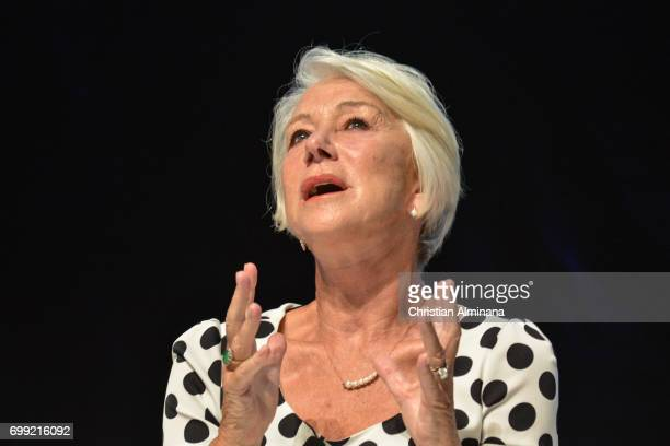 Dame Helen Mirren attends the Cannes Lions Festival 2017 on June 21 2017 in Cannes France