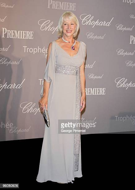 Dame Helen Mirren attends The Chopard Trophy at the Hotel Martinez during the 63rd Annual International Cannes Film Festival on May 13 2010 in Cannes...