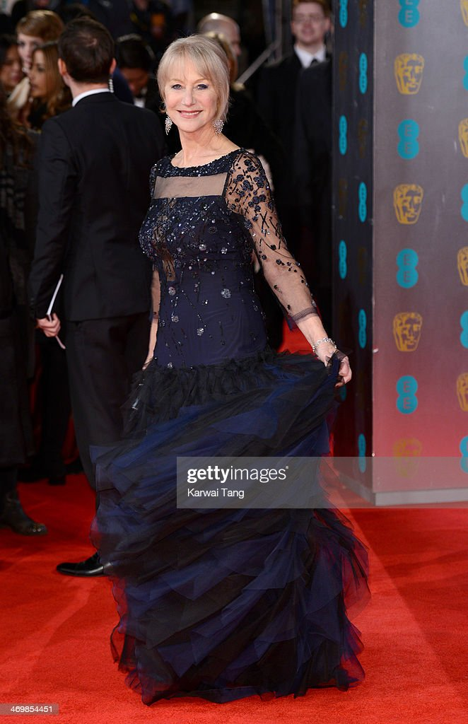 Dame <a gi-track='captionPersonalityLinkClicked' href=/galleries/search?phrase=Helen+Mirren&family=editorial&specificpeople=201576 ng-click='$event.stopPropagation()'>Helen Mirren</a> attends the EE British Academy Film Awards 2014 at The Royal Opera House on February 16, 2014 in London, England.