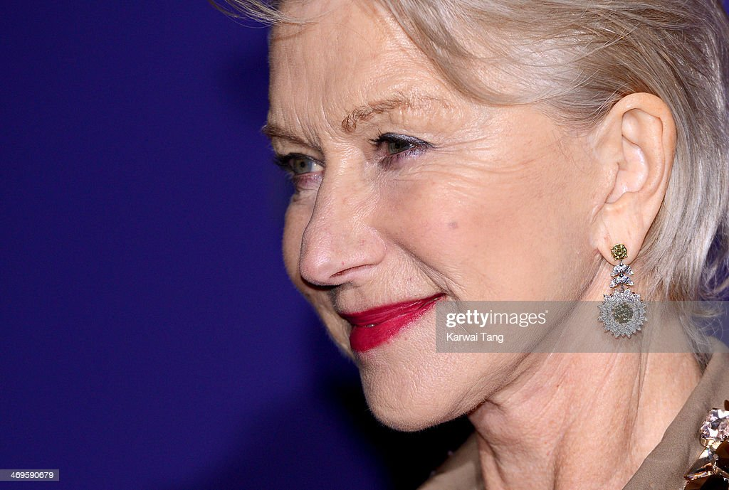 Dame <a gi-track='captionPersonalityLinkClicked' href=/galleries/search?phrase=Helen+Mirren&family=editorial&specificpeople=201576 ng-click='$event.stopPropagation()'>Helen Mirren</a> attends the EE British Academy Film Awards Nominees Party at Asprey London on February 15, 2014 in London, England.