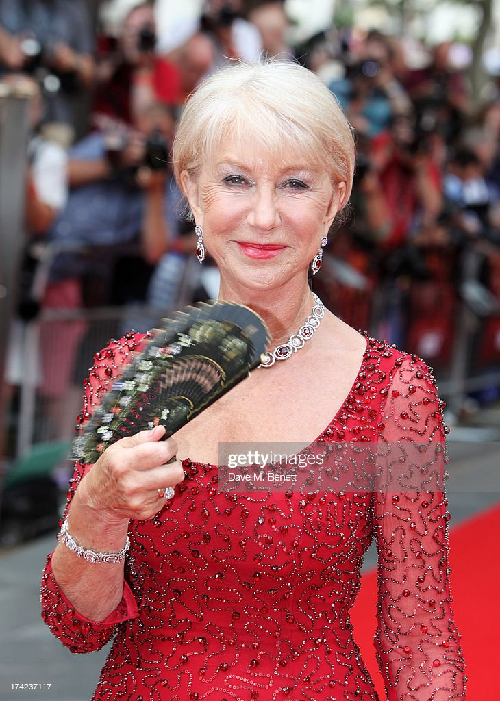 Dame Helen Mirren attends the European Premiere of 'Red 2' at the Empire Leicester Square on July 22, 2013 in London, England.