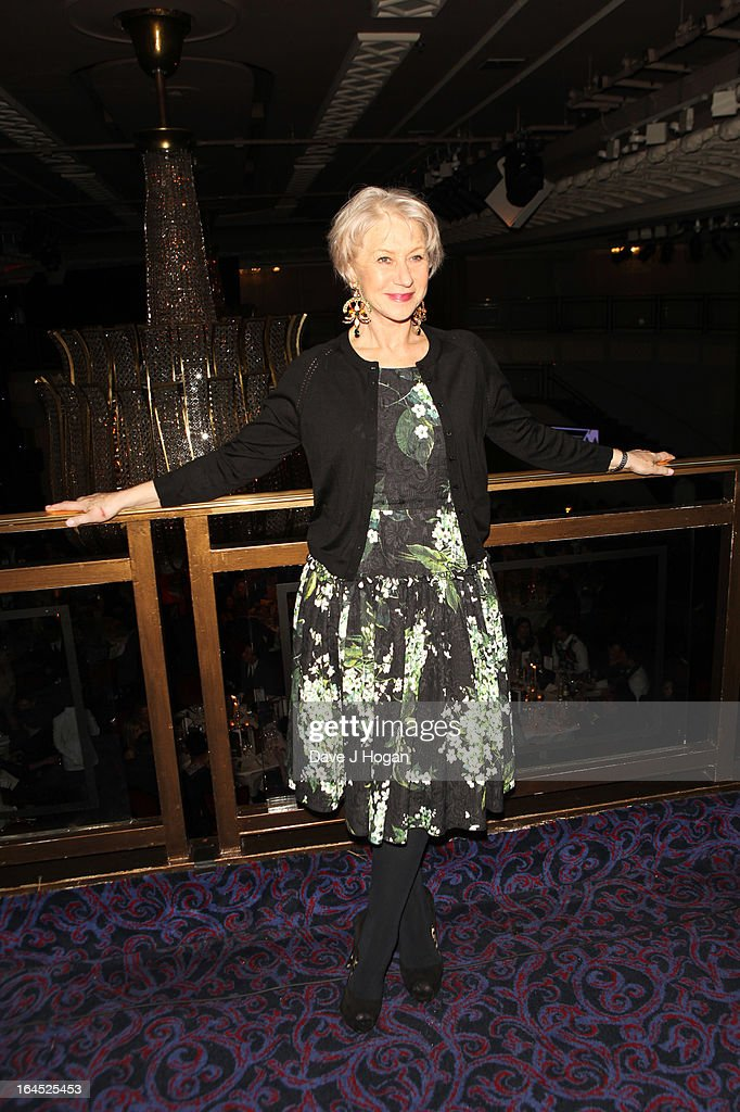 Dame Helen Mirren attends the Jameson Empire Awards 2013 at Grosvenor House Hotel on March 24, 2013 in London, England.