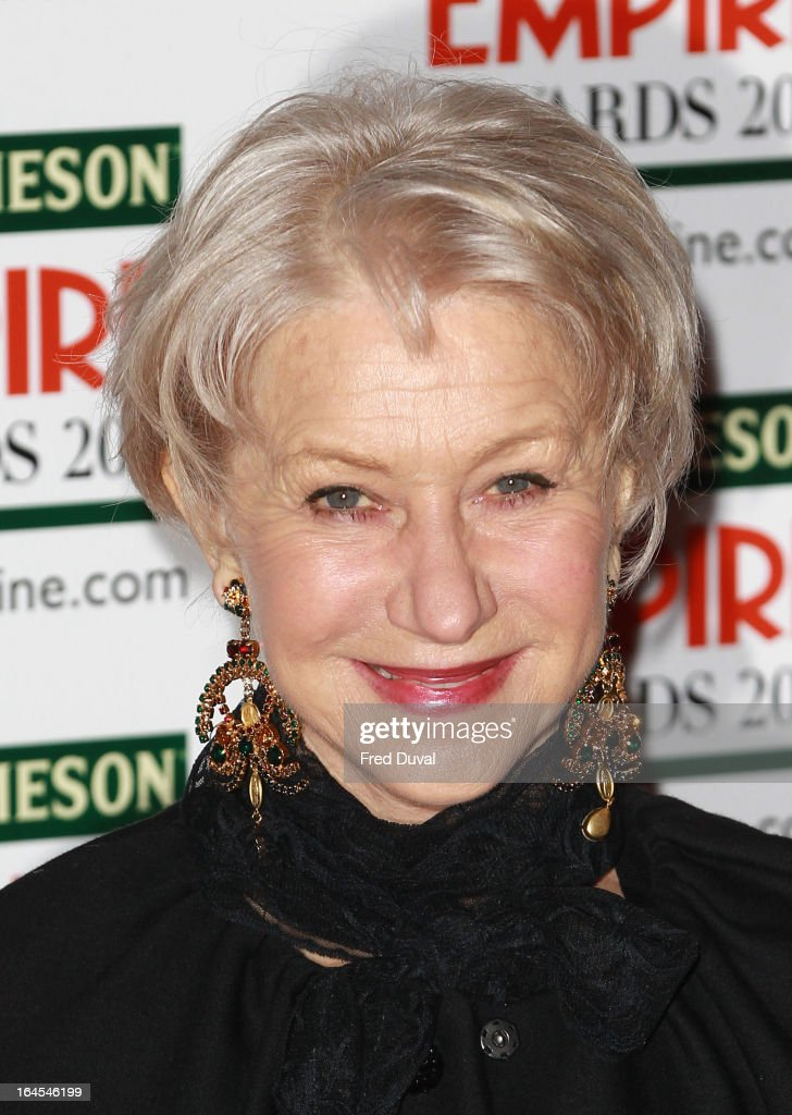 Dame <a gi-track='captionPersonalityLinkClicked' href=/galleries/search?phrase=Helen+Mirren&family=editorial&specificpeople=201576 ng-click='$event.stopPropagation()'>Helen Mirren</a> attends the Jameson Empire Film Awards at The Grosvenor House Hotel on March 24, 2013 in London, England.