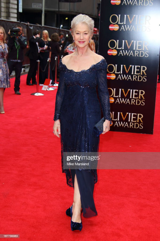 Dame <a gi-track='captionPersonalityLinkClicked' href=/galleries/search?phrase=Helen+Mirren&family=editorial&specificpeople=201576 ng-click='$event.stopPropagation()'>Helen Mirren</a> attends The Laurence Olivier Awards at The Royal Opera House on April 28, 2013 in London, England.