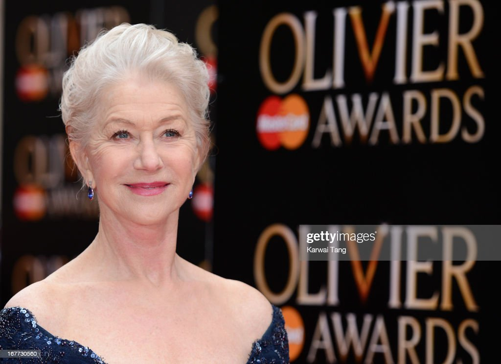 Dame Helen Mirren attends The Laurence Olivier Awards at The Royal Opera House on April 28, 2013 in London, England.