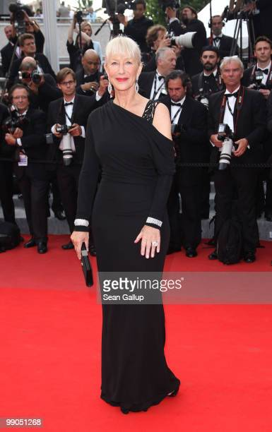Dame Helen Mirren attends the 'Robin Hood' Premiere at the Palais des Festivals during the 63rd Annual Cannes Film Festival on May 12 2010 in Cannes...