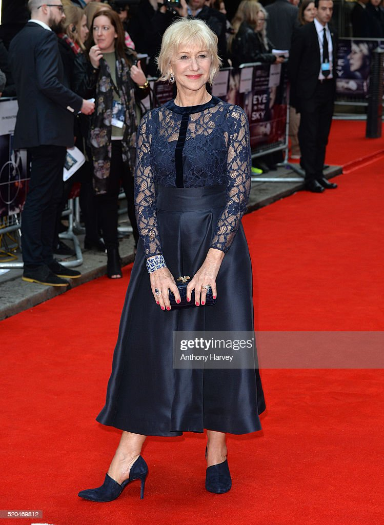 Dame Helen Mirren attends the UK premiere of 'Eye In The Sky' on April 11, 2016 in London, United Kingdom.