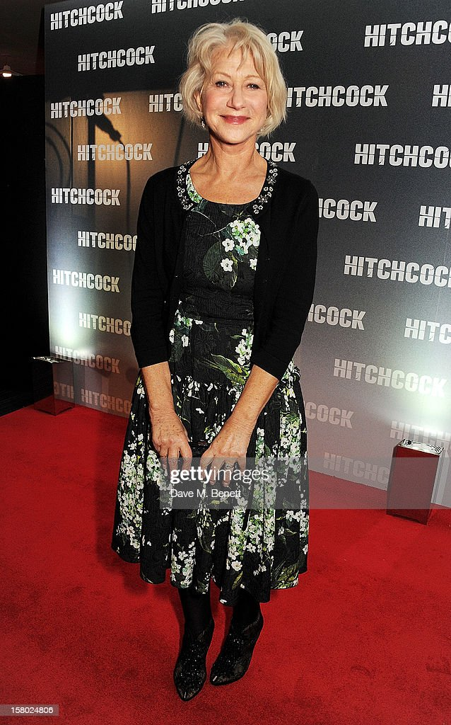 Dame <a gi-track='captionPersonalityLinkClicked' href=/galleries/search?phrase=Helen+Mirren&family=editorial&specificpeople=201576 ng-click='$event.stopPropagation()'>Helen Mirren</a> attends the UK Premiere of 'Hitchcock' at BFI Southbank on December 9, 2012 in London, England.