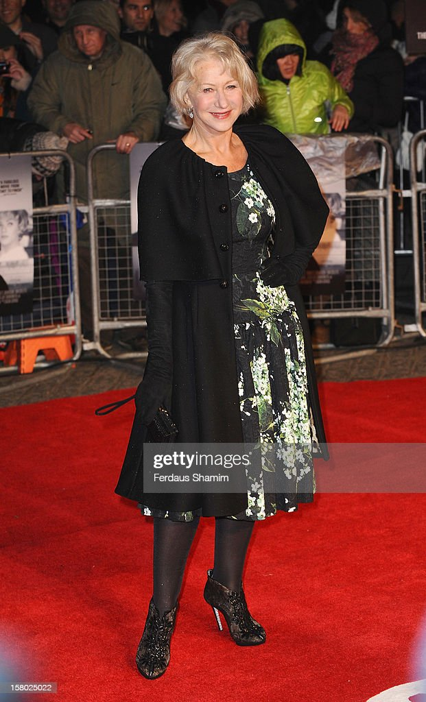 Dame Helen Mirren attends the UK Premiere of Hitchcock at BFI Southbank on December 9 2012 in London England