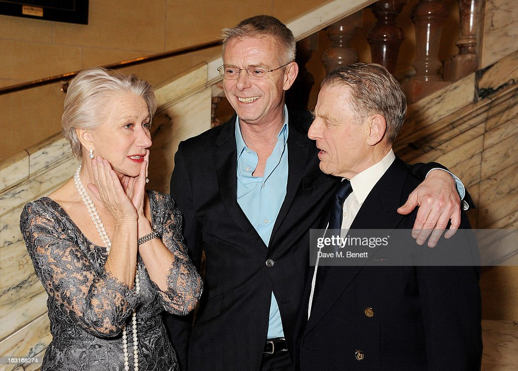 Dame <a gi-track='captionPersonalityLinkClicked' href=/galleries/search?phrase=Helen+Mirren&family=editorial&specificpeople=201576 ng-click='$event.stopPropagation()'>Helen Mirren</a>, director <a gi-track='captionPersonalityLinkClicked' href=/galleries/search?phrase=Stephen+Daldry&family=editorial&specificpeople=207126 ng-click='$event.stopPropagation()'>Stephen Daldry</a> and <a gi-track='captionPersonalityLinkClicked' href=/galleries/search?phrase=Edward+Fox&family=editorial&specificpeople=228372 ng-click='$event.stopPropagation()'>Edward Fox</a> attend an after party following the press night performance of 'The Audience' at One Whitehall Place on March 5, 2013 in London, England.