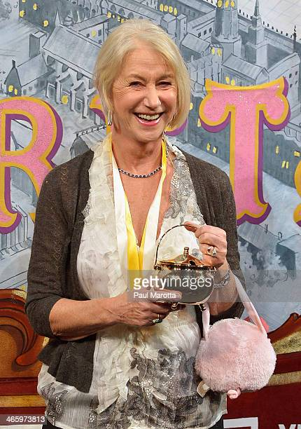 Dame Helen Mirren during the Hasty Pudding Theatricals roast in her honor at the 2014 Woman Of The Year Award Parade honoring Helen Mirren at Harvard...