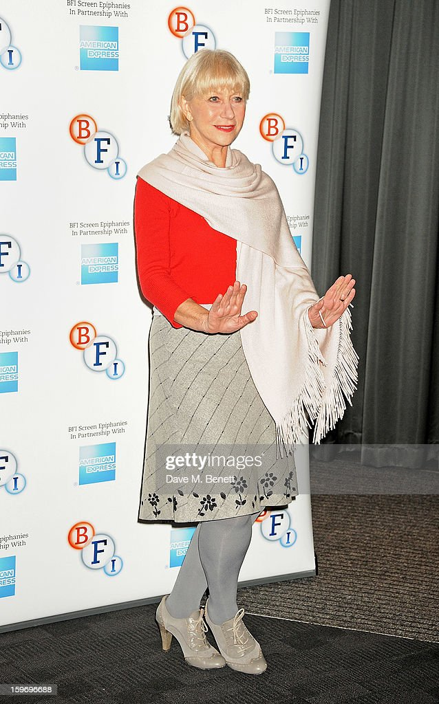 Dame Helen Mirren introduces 'L'Atlante', a film that inspired her, as part of the BFI Screen Epiphanies series at BFI Southbank on January 18, 2013 in London, England.