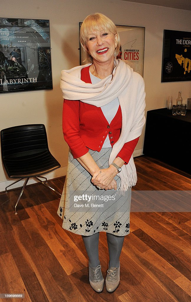 Dame <a gi-track='captionPersonalityLinkClicked' href=/galleries/search?phrase=Helen+Mirren&family=editorial&specificpeople=201576 ng-click='$event.stopPropagation()'>Helen Mirren</a> introduces 'L'Atlante', a film that inspired her, as part of the BFI Screen Epiphanies series at BFI Southbank on January 18, 2013 in London, England.