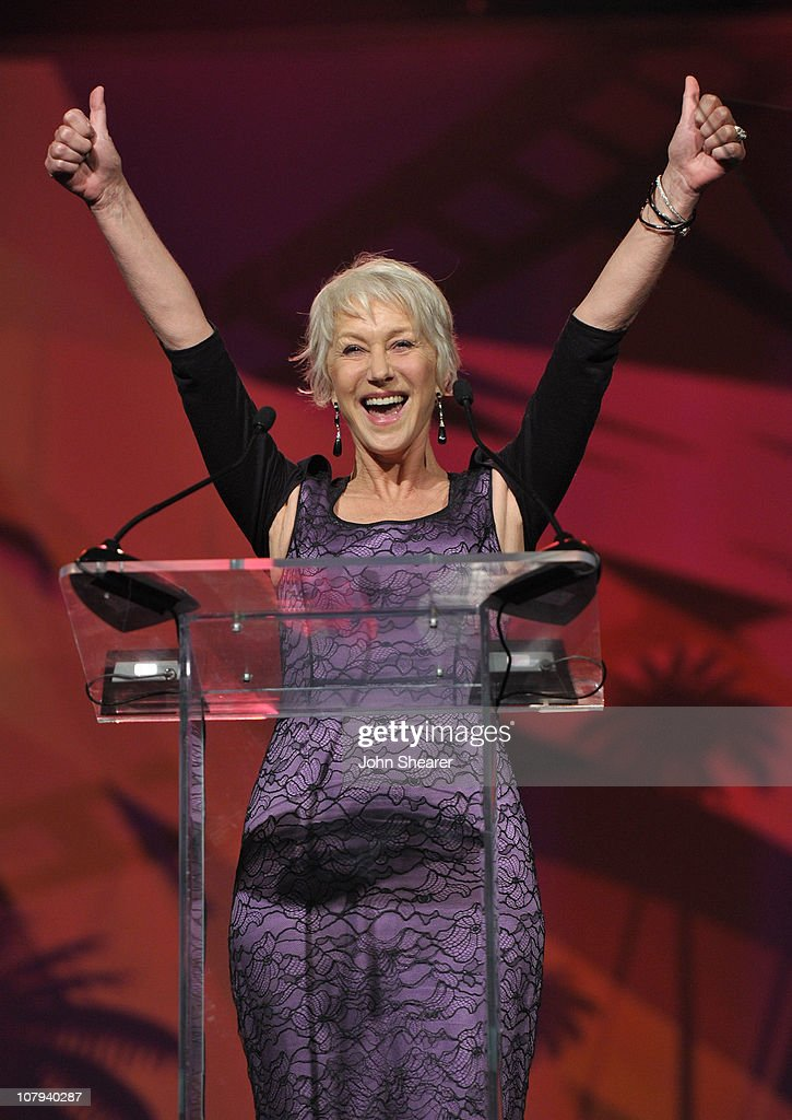 Dame <a gi-track='captionPersonalityLinkClicked' href=/galleries/search?phrase=Helen+Mirren&family=editorial&specificpeople=201576 ng-click='$event.stopPropagation()'>Helen Mirren</a> onstage during the 22nd Annual Palm Springs International Film Festival Awards Gala at the Palm Springs Convention Center on January 8, 2011 in Palm Springs, California.