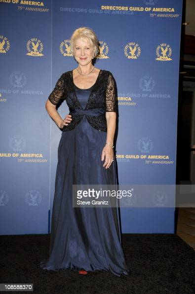 Dame Helen Mirren poses in the press room during the 63rd Annual DGA Awards held at the Grand Ballroom at Hollywood Highland Center on January 29...