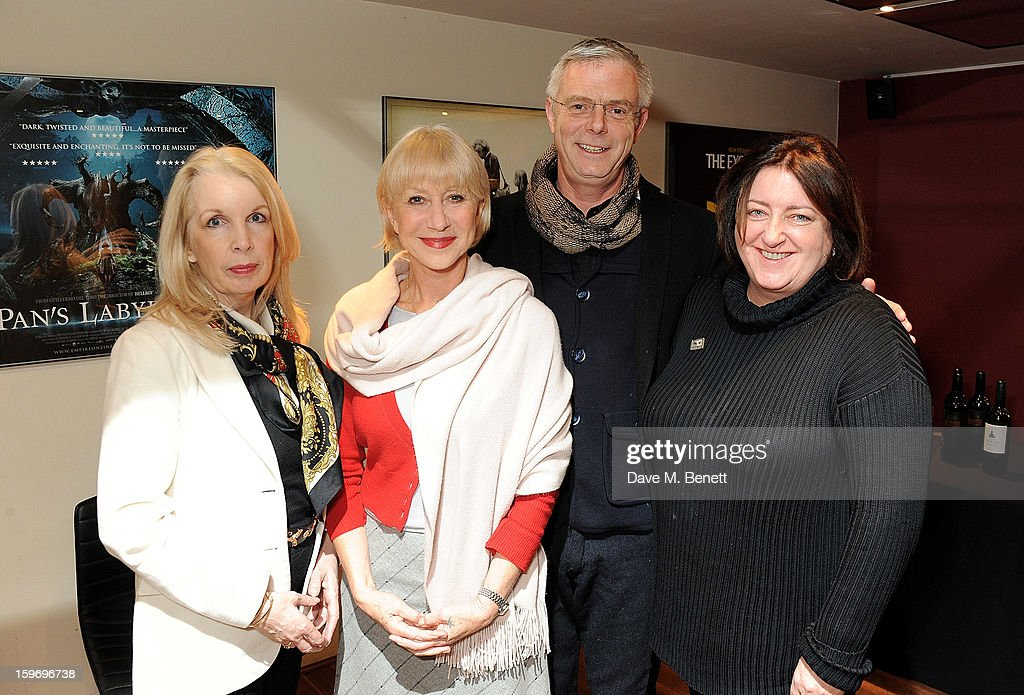 Dame <a gi-track='captionPersonalityLinkClicked' href=/galleries/search?phrase=Helen+Mirren&family=editorial&specificpeople=201576 ng-click='$event.stopPropagation()'>Helen Mirren</a> (2L) poses with CEO of the BFI Amanda Nevill, director <a gi-track='captionPersonalityLinkClicked' href=/galleries/search?phrase=Stephen+Daldry&family=editorial&specificpeople=207126 ng-click='$event.stopPropagation()'>Stephen Daldry</a> and Cultural Director of the BFI Heather Stewart before introducing 'L'Atlante', a film that inspired her, as part of the BFI Screen Epiphanies series at BFI Southbank on January 18, 2013 in London, England.