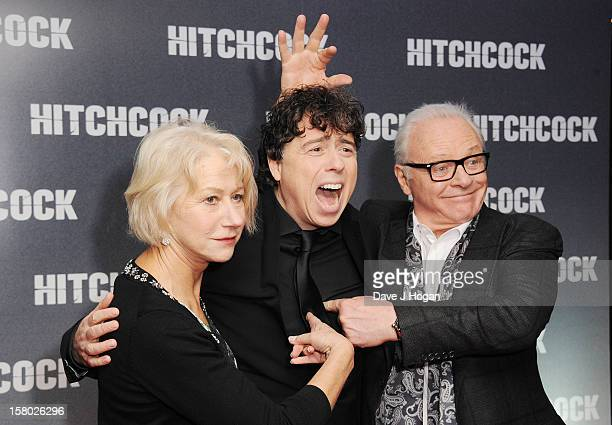 Dame Helen Mirren Sacha Gervasi and Sir Anthony Hopkins attend the Hitchcock UK Premiere at the BFI NFT on December 9 2012 in London England