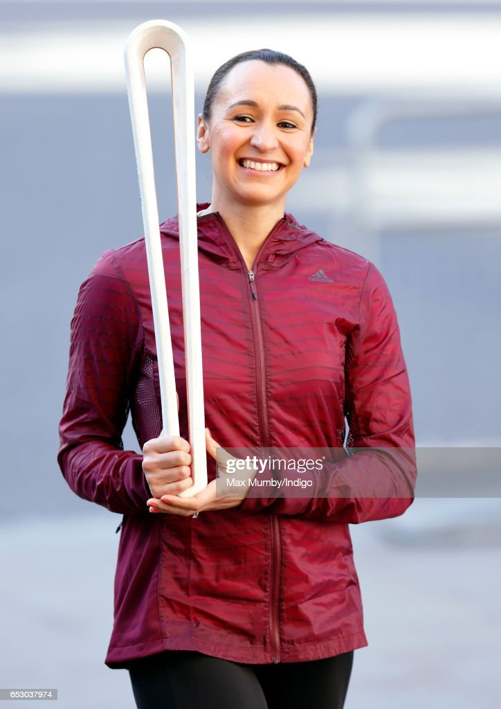 Dame Jessica Ennis-Hill carries The Queen's Baton as she attends the Commonwealth Day Service at Westminster Abbey on March 13, 2017 in London, England.