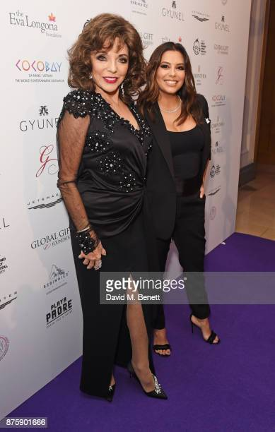 Dame Joan Collins and Eva Longoria attend the 8th Global Gift Gala London in aid of Great Ormond Street Hospital Children's Charity at Corinthia...