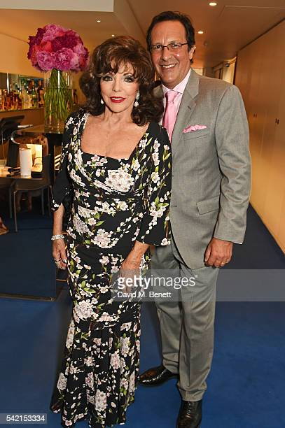 Dame Joan Collins and Percy Gibson attend a private dinner hosted by Michael Kors to celebrate the new Regent Street Flagship store opening at The...
