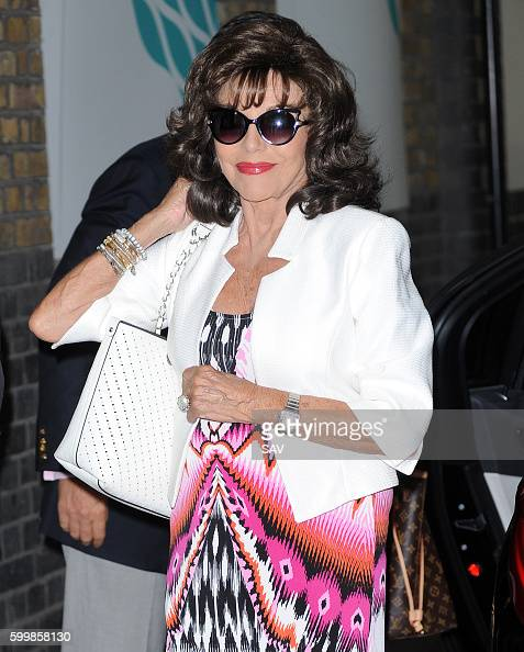 Dame Joan Collins arrives at The ITV Studios on September 7 2016 in London England