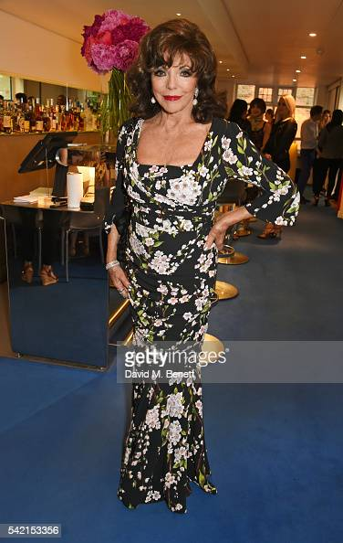 Dame Joan Collins attends a private dinner hosted by Michael Kors to celebrate the new Regent Street Flagship store opening at The River Cafe on June...