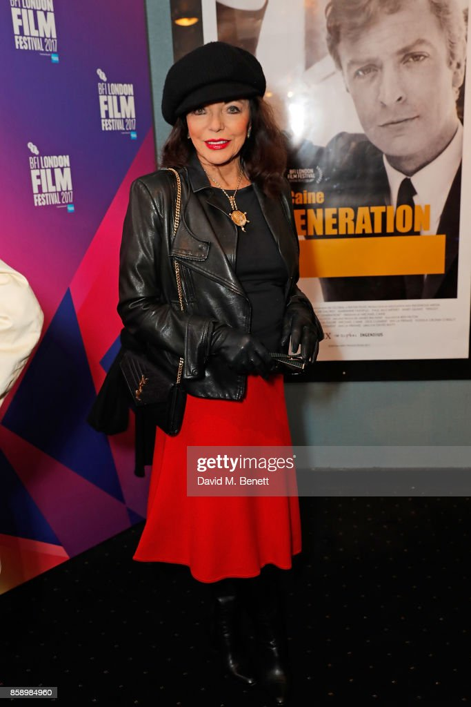 Dame Joan Collins attends a screening 'My Generation' at the Curzon Chelsea during the 61st BFI London Film Festival on October 8, 2017 in London, England.