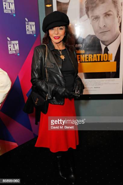 Dame Joan Collins attends a screening 'My Generation' at the Curzon Chelsea during the 61st BFI London Film Festival on October 8 2017 in London...