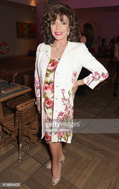 Dame Joan Collins attends an after party celebrating the VIP Gala Preview of 'The Elephant Man' at The Haymarket Hotel on May 26 2015 in London...