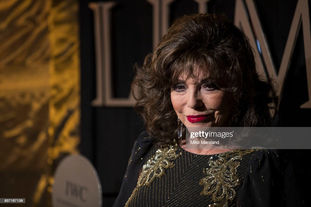 Dame Joan Collins attends the BFI Luminous Fundraising Gala at The Guildhall on October 3, 2017 in London, England.
