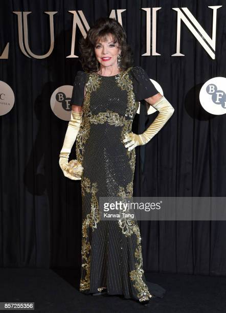 Dame Joan Collins attends the BFI Luminous Fundraising Gala at The Guildhall on October 3 2017 in London England