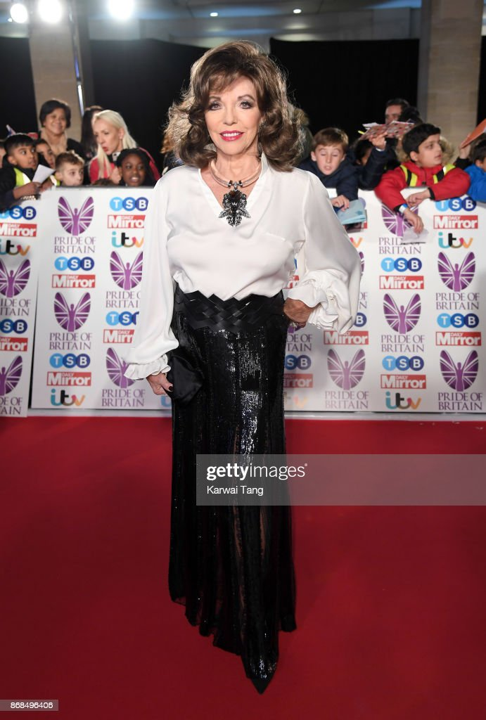 Dame Joan Collins attends the Pride Of Britain Awards at the Grosvenor House on October 30, 2017 in London, England.