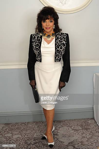 Dame Joan Collins attends the Shooting Star Chase Afternoon Tea at The Dorchester on May 22 2015 in London England