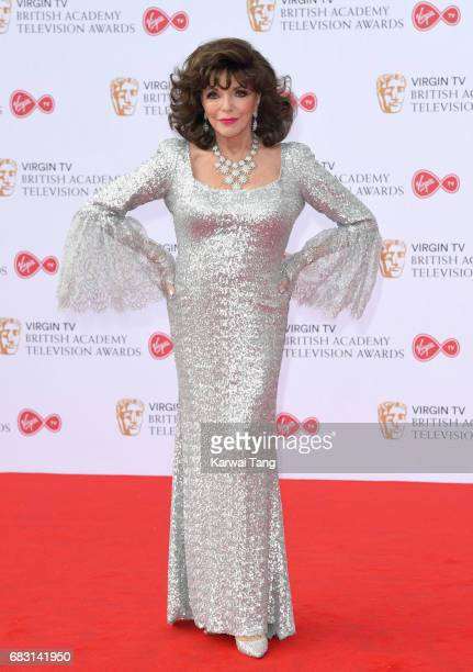 Dame Joan Collins attends the Virgin TV BAFTA Television Awards at The Royal Festival Hall on May 14 2017 in London England