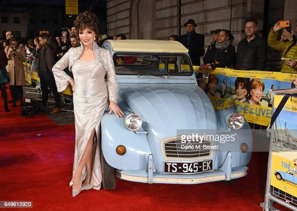 Dame Joan Collins attends the World Premiere of 'The Time Of Their Lives' at The Curzon Mayfair on March 8 2017 in London England