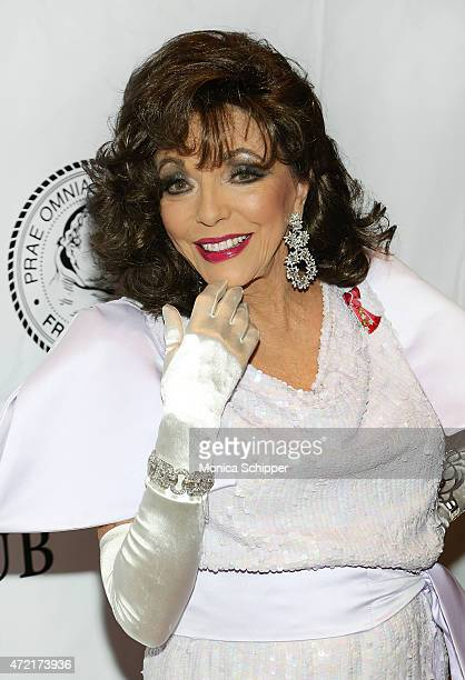 Dame Joan Collins DBE attends the Friars Club Salute To Joan Collins at The Friars Club on May 4 2015 in New York City