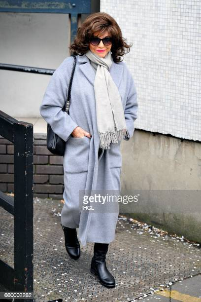 Dame Joan Collins seen at the ITV Studios on March 29 2017 in London England