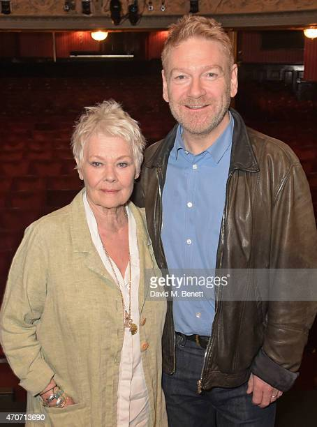 Dame Judi Dench and Kenneth Branagh pose at a photocall to launch 'Plays At The Garrick' the inaugural season of plays from The Kenneth Branagh...