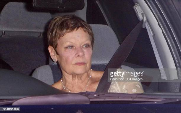 Dame Judi Dench arrives at Prince Charles's Highgrove home near Tetbury Gloucestershire where Prince Charles will be celebrating his 60th birthday...