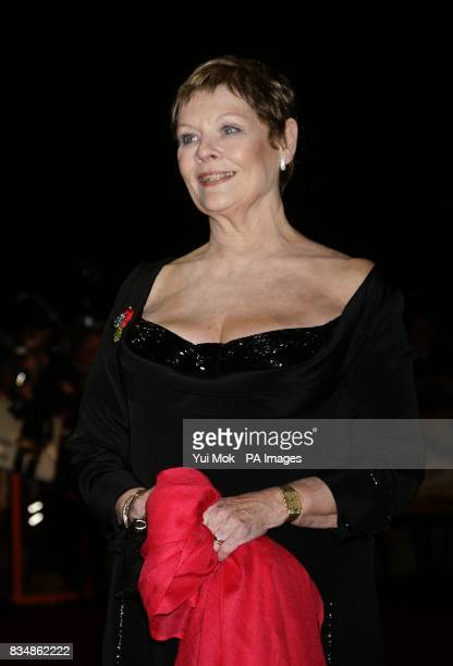 Dame Judi Dench arrives for the World premiere of 'Quantum Of Solace' at the Odeon Leicester Square WC2