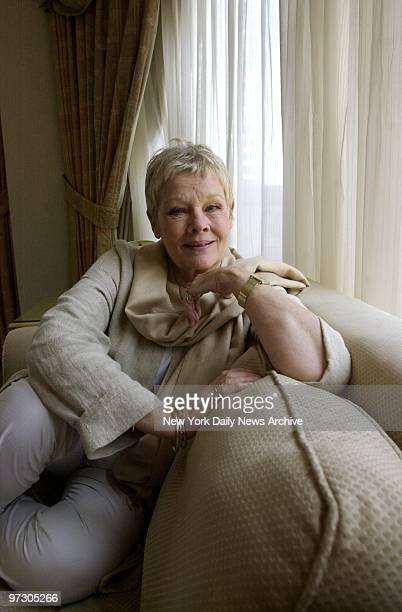 Dame Judi Dench at the Rihga Royal hotel on W 54th St The British actress sports cascading locks and floats on air in the upcoming science fiction...