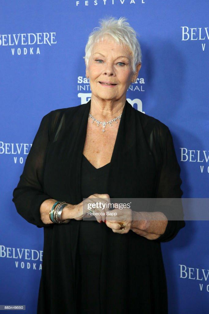 Dame Judi Dench attends Santa Barbara International Film Festival Kirk Douglas Award of Excellence Dinner sponsored by Belvedere Vodka honoring Dame Judi Dench at Bacara Resport And Spa on November 30, 2017 in Santa Barbara, California.
