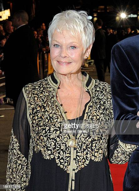 Dame Judi Dench attends the American Express Gala Screening of 'Philomena' during the 57th BFI London Film Festival at Odeon Leicester Square on...
