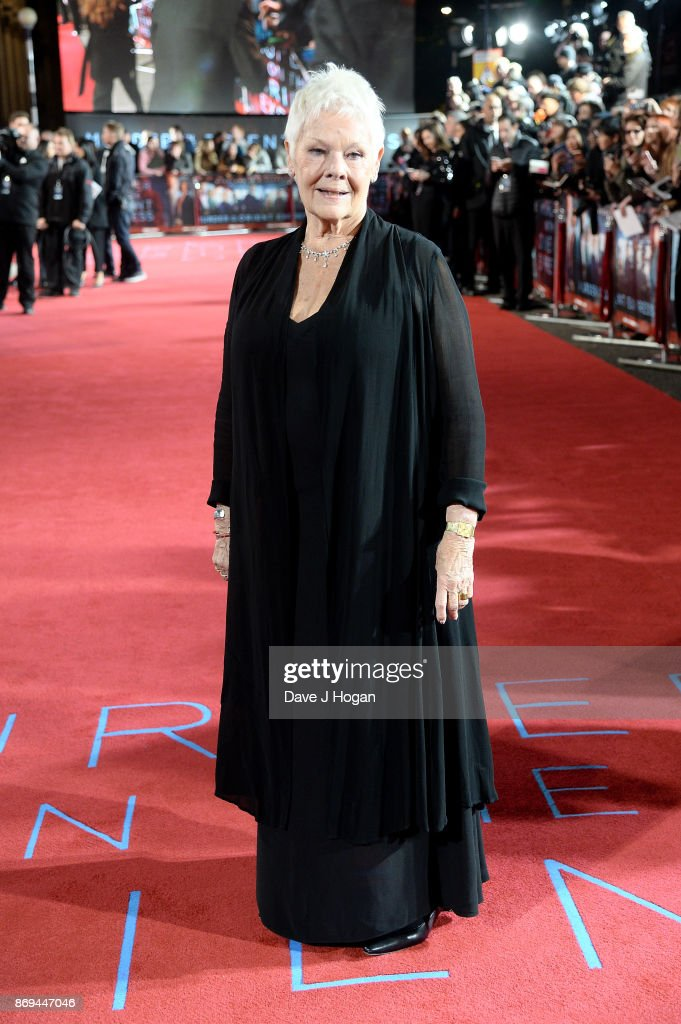 Dame Judi Dench attends the 'Murder On The Orient Express' World Premiere at Royal Albert Hall on November 2, 2017 in London, England.