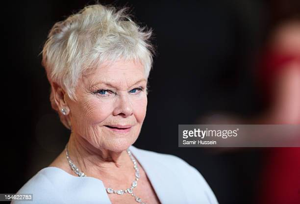 Dame Judi Dench attends the Royal World Premiere of 'Skyfall' at the Royal Albert Hall on October 23 2012 in London England