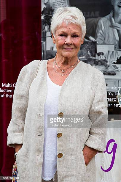 Dame Judi Dench attends the Shop with the Stars at Fenwick event in support of the theatrical charity Acting For Others at Fenwick Of Bond Street on...