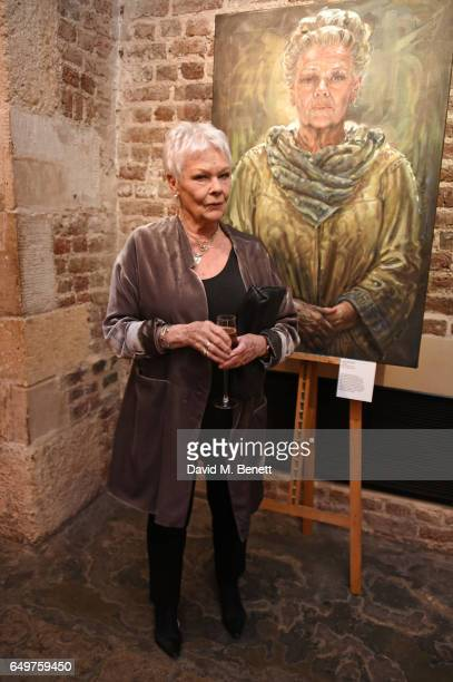 Dame Judi Dench attends the St MartinintheFields Gala Dinner and auction of Alexander Newley portraits on March 8 2017 in London England
