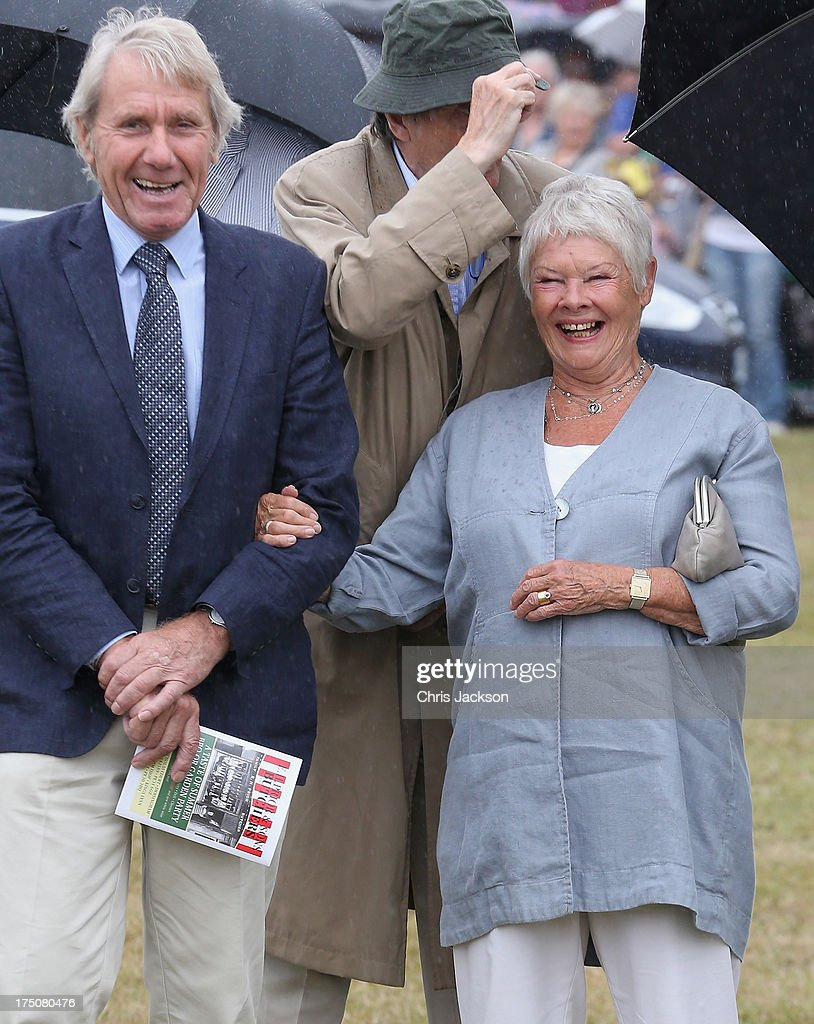 Dame Judi Dench during a visit to the 132nd Sandringham Flower Show at Sandringham House on July 31, 2013 in King's Lynn, England.