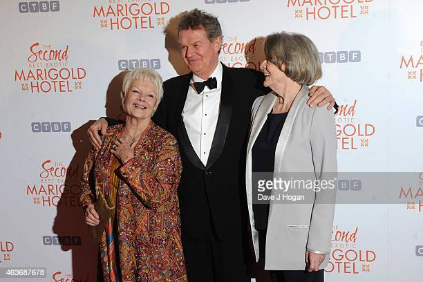 Dame Judi Dench John Madden and Dame Maggie Smith attend The Royal Film Performance and World Premiere of 'The Second Best Exotic Marigold Hotel' at...