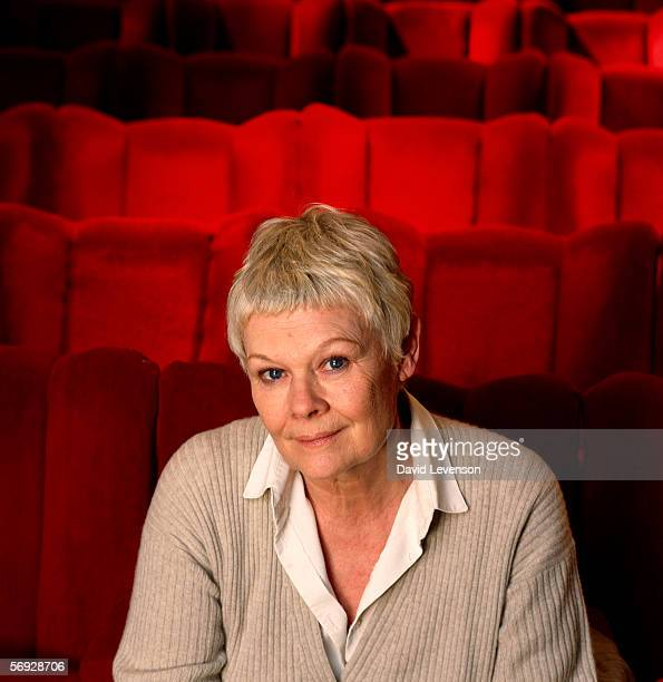 Dame Judi Dench the actress poses for a portrait in a theatre in London on January 12 1999